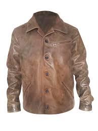 johnny depp mens brown leather jacket prev next johnny depp front