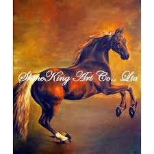 handmade animal oil painting on canvas classical horse painting horse1126 50x60cm