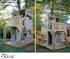 kids outdoor forts playhouses designs
