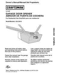 craftsman garage door partsGarage Doors  Craftsman Garage Door Opener Manual Sears