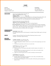 Example Of Social Work Resumes Example Social Work Resume Social Worker Resume Templates