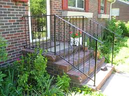 Front Porches Designs Outdoor Wrought Iron Stair Railing Wrought