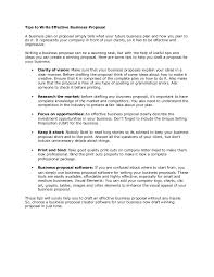 Professional Business Proposals Tips To Write Effective Business Proposal