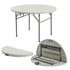 folding round table 4ft portable