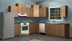 Cabinet For Kitchen Appliances Kitchen L Shaped Brown Kitchen Cabinet With White Kitchen