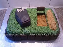 Funny Over The Hill Birthday Cake Idea