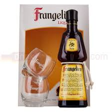 frangelico liqueur 50cl gift pack with 2 branded gles drinksupermarket