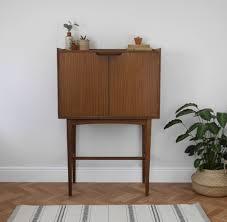 vinyl record storage furniture. Mid Century Tall Teak Drinks Cocktail Cabinet Or Vinyl Record Storage Unit | Vinterior Furniture