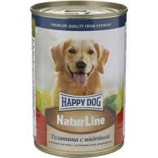 """<b>Консервы</b> для собак <b>Happy Dog</b> """"<b>Natur</b>"""", с телятиной и индейкой ..."""