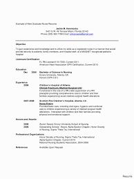 New Grad Nursing Resume Template Unique Graduated Nurse Resume