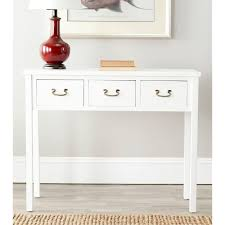 white console table with drawer. Wonderful White Safavieh Cindy White Storage Console Table AMH6568C The Home Depot With  Plan 1 Intended Drawer H