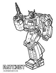 Ratchet Transformers Coloring Pages By Adam