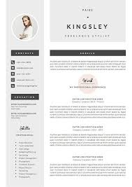 Modern Resume Template Oddbits Studio Free Download Professional Resume Template Cover Letter Icon Set For Microsoft