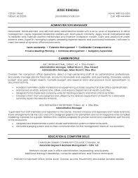 Cv Examples Administration Administration Manager Resume Samples Visualcv Resume Samples