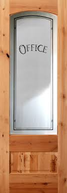 801 knotty alder etched glass office door