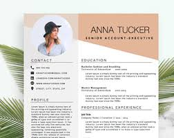 Modern Resume Template / CV Template | Professional and Creative Resume |  Word Resume | Instant