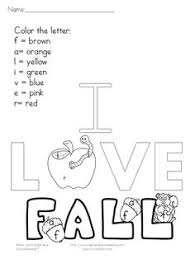 c4433a9e314db9ecb48b76f7c768ed61 fall coloring pages sight word worksheets color by letter sight word fall fun words, coloring and colors on sentence development worksheets