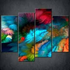 abstract canvas prints luxury colourful split wall art pictures for