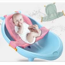 ummer newborn baby bath seat net bed cushion pillow pad support accessories for baby tub safety
