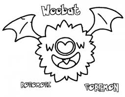 Small Picture Pokemon Woobat Coloring Pages Pokemon Coloring Pages Pinterest