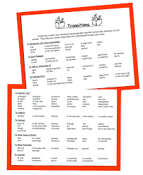 transition sentences for essays how to use transition words and view larger
