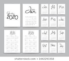 Desk Calendar Printable Calendar Printable Stock Illustrations Images Vectors