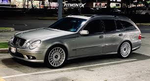 Here's a v8 that can haul. Wheel Offset 2006 Mercedes Benz E500 Tucked Air Suspension Fitment Industries