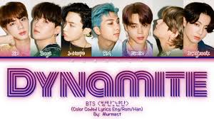 BTS (방탄소년단) - DYNAMITE Lyrics (Color Coded Lyrics Eng) - YouTube