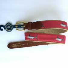 details about leather man ltd c swordfish khaki leather tab belt brass buckle size 30 new
