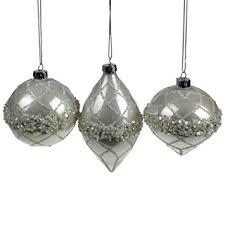 3x Kugeln Zwiebel Zapfen Perlmutt Glimmer Glitter Perlen