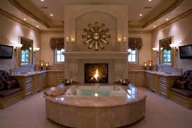 luxury bathrooms with fireplaces luxury bathrooms with fireplaces nice modern freestanding fireplace