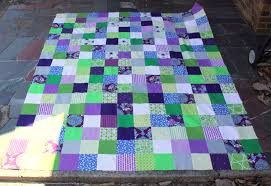 purple and green quilt | oliversfancy & Purple is my favorite color so I enjoyed pulling fabrics together for this  quilt! This is the first time I have used my design wall for a large scale  ... Adamdwight.com