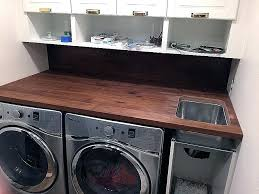 washer dryer countertop laundry room over washer dryer new a walnut counter and in the laundry washer dryer countertop