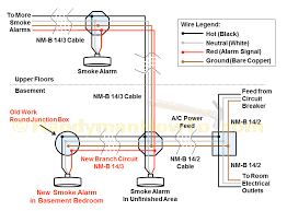 basement wiring diagram how to install a hardwired smoke alarm new branch circuit smoke detector wiring diagram