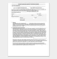 Forms For Word Stunning Security Company Bid Proposal New Proposal Contract Template 48