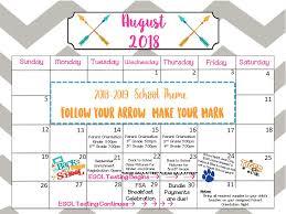 August Theme Calendar August 2018 Calendar Acsp News