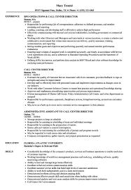 Call Center Director Resume Sample Executive Director