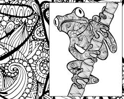 Small Picture frog coloring sheet animal coloring pdf zentangle adult