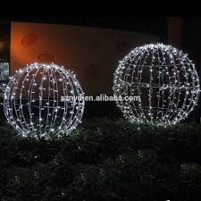outdoor ball lights diy sphere outdoor lights part blue and cool white led giant