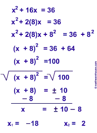 copy of copy of completing the square