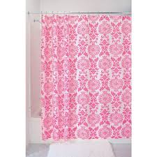 pink shower curtains. Amazon.com: InterDesign Damask Fabric Shower Curtain, 72 X 72, Hot Pink: Home \u0026 Kitchen Pink Curtains E
