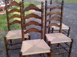 oak ladder back chairs rush seats