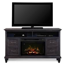 com dimplex solomon electric fireplace tv stand with logset in gray home kitchen
