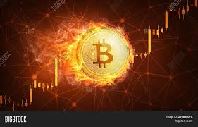 Cu Stock Chart Golden Bitcoin Coin Image Photo Free Trial Bigstock