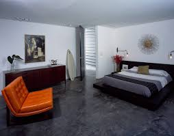 painting concrete bedroom floors. new orleans stained concrete floors with wooden chests bedroom modern and painting