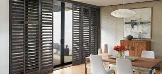 patio door plantation shutters things