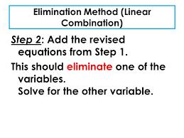 3 elimination