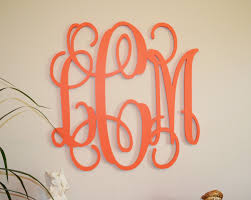 incredible inspiration wooden monogram wall hanging home decoration ideas 24 painted wood initials decor letter