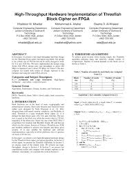 pdf high throughput hardware implementation