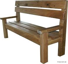 rustic garden benches oak large contemporary bench free plans